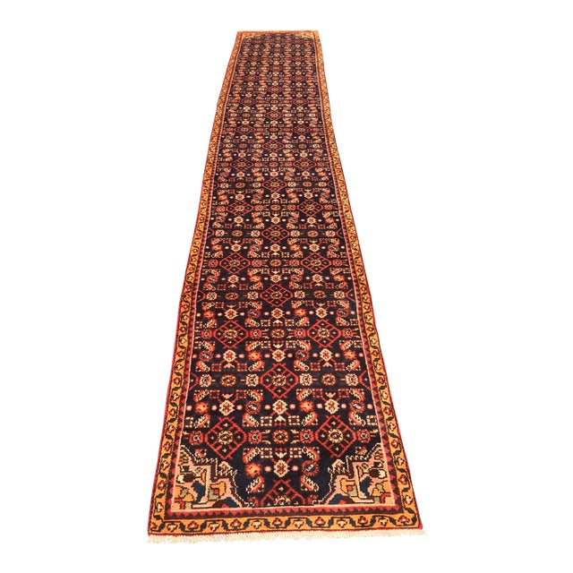 "Vintage Persian Malayer Runner - 2'4"" x 14'4"" - Image 1 of 10"