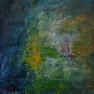 """""""The Watchman"""" Contemporary Abstract Mixed-Media Painting For Sale"""