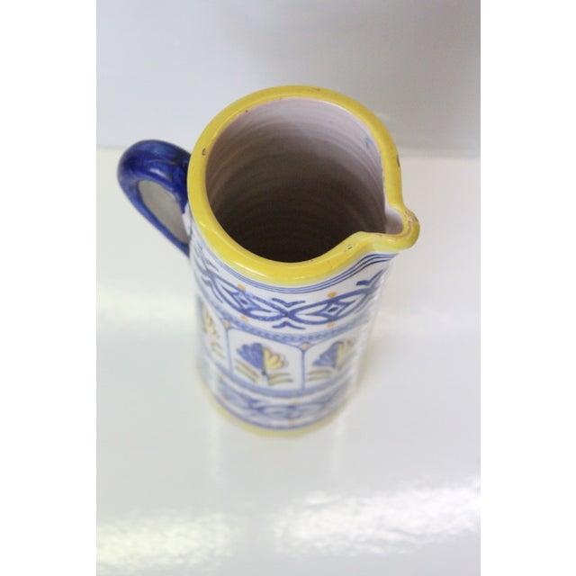 Italian Provincial Ceramic Jug For Sale - Image 4 of 6