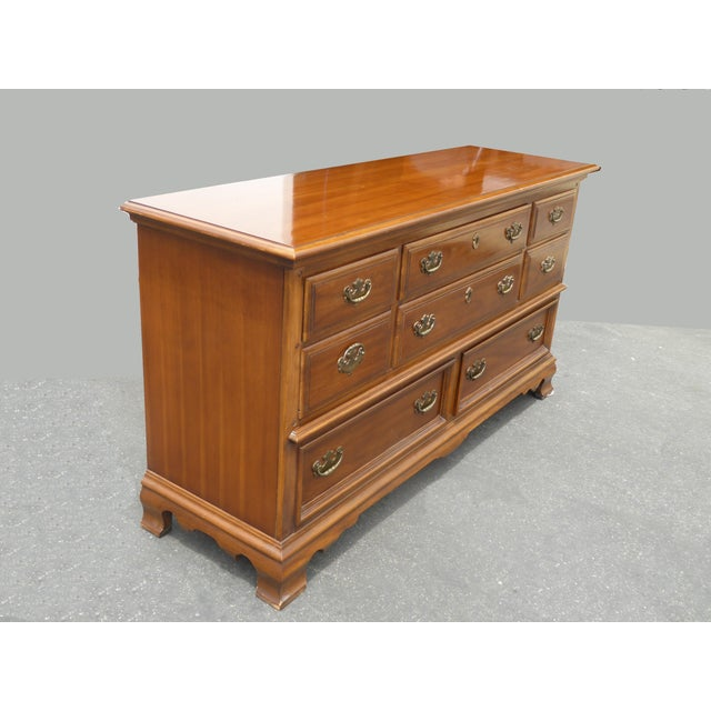 Vintage 1963 Kent Coffey French Provincial Cherry & Pecan Eight Drawer Dresser 1963 For Sale In Los Angeles - Image 6 of 13