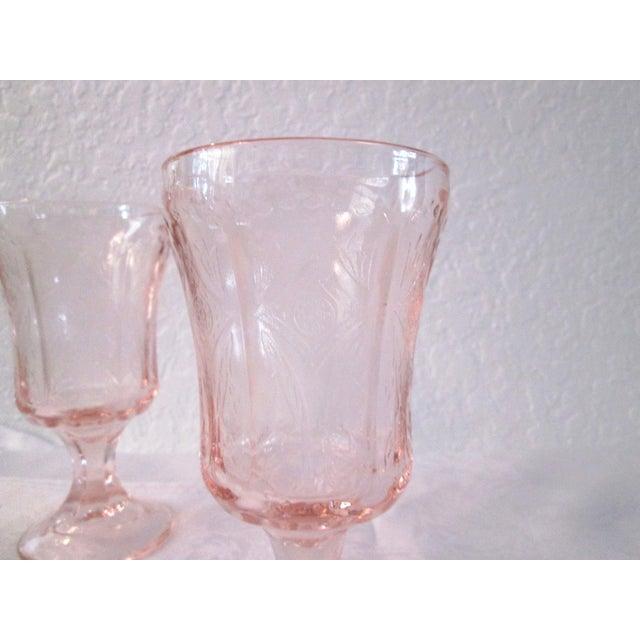 Vintage Blush Pink Madrid Goblets - Set of 5 - Image 5 of 6