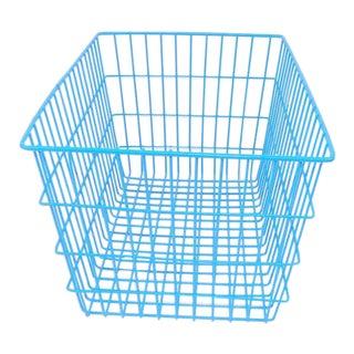 Blue Wire Basket