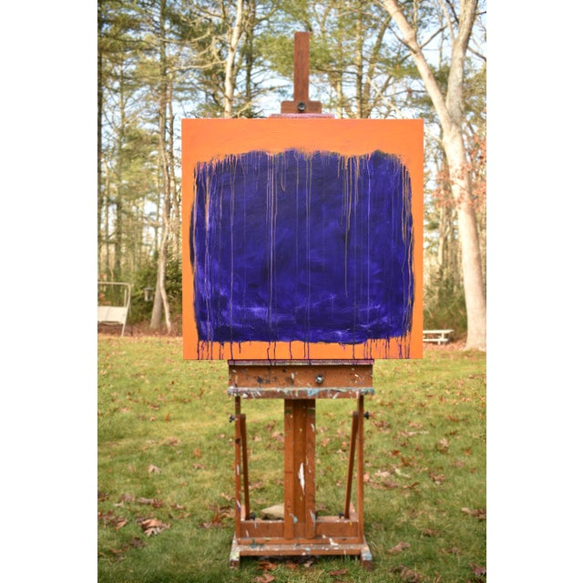 """Abstract Stephen Remick """"Tempest"""" Abstract Painting For Sale - Image 3 of 12"""