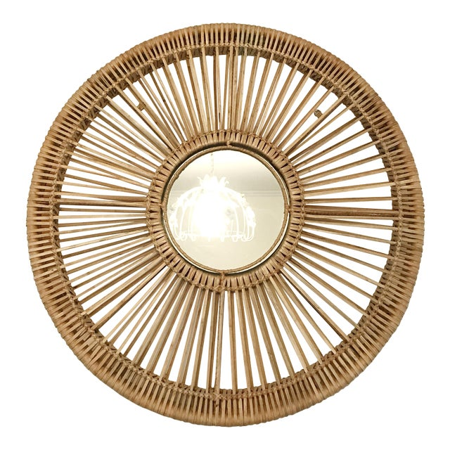 Round Rattan Mirror For Sale