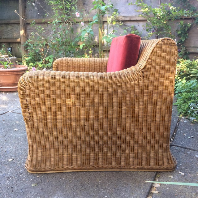 Eero Aarnio 1970s Vintage Scultpural Wicker Seating Set- 5 Pieces For Sale - Image 4 of 13