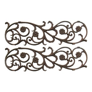 19thC. French Iron Grilles, Pair For Sale
