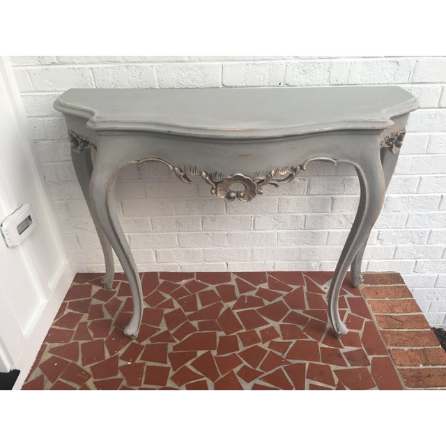 French Demilune Console Table With Gold Leaf - Image 2 of 7