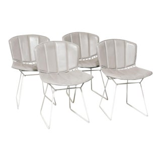 Upholstered Side Chairs by Harry Bertoia For Sale