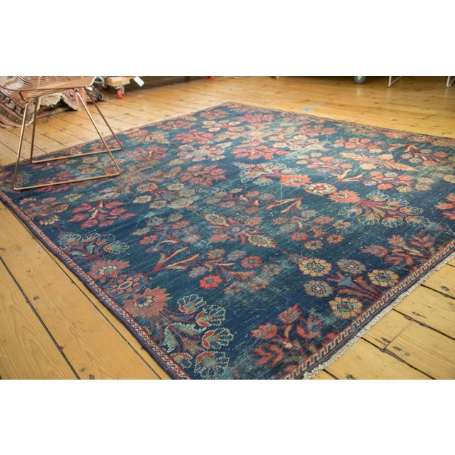 "Vintage Mahal Square Carpet - 6'4"" x 7'7"" - Image 10 of 10"
