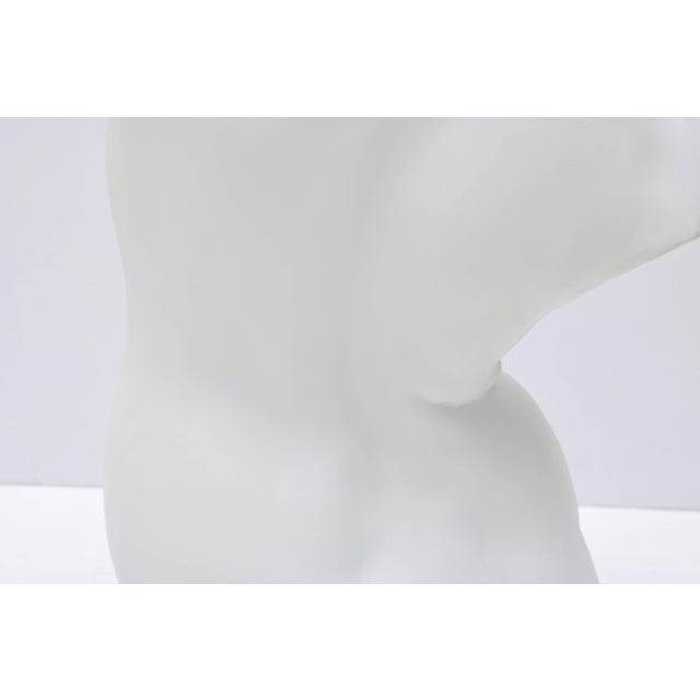 Large Scale Nude Female Torso Sculpture in Cast Plaster For Sale In West Palm - Image 6 of 10