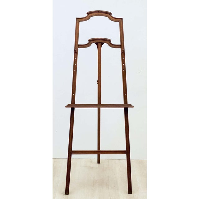 English English Artist's or Display Easel With Carved Wood Accents For Sale - Image 3 of 13