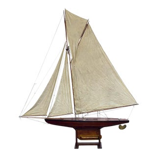 """Large English Pond Yacht on Stand, """"My Fair Lady"""" For Sale"""