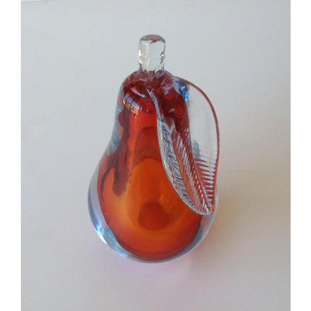 Alfredo Barbini Hand-Blown Murano Pear Bookend - Image 9 of 10