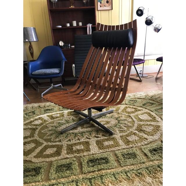 "Hans Bellmann 1950's Vintage Hans Brattrud Teak ""Scandia"" Lounge Chair For Sale - Image 4 of 9"
