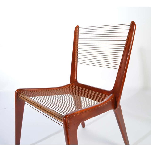 1980s Jacques Guillon Cord Chair For Sale - Image 5 of 8