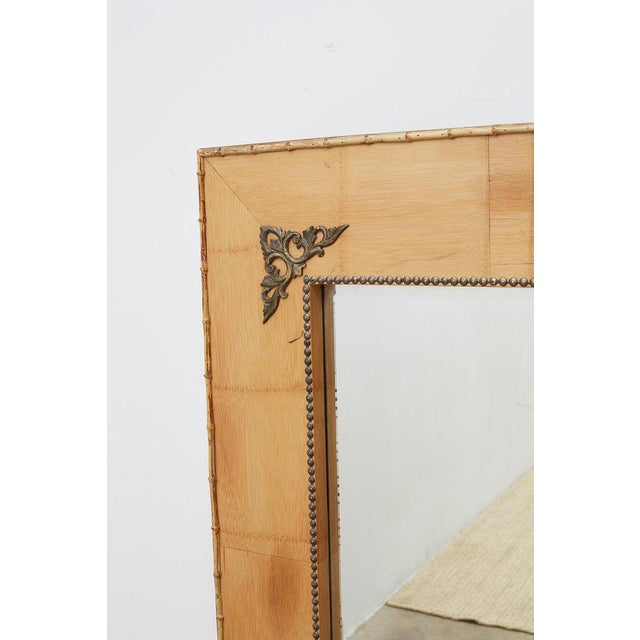 Pair of Bamboo Mirrors With Book Motif For Sale In San Francisco - Image 6 of 12