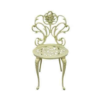 Vintage Kessler French Art Nouveau Style Metal Floral Side Chair For Sale