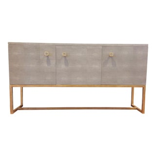 Made Goods Sideboard in Faux Shagreen For Sale