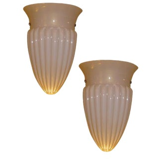 Chic Barovier Et Toso Urn Form Sconces Murano