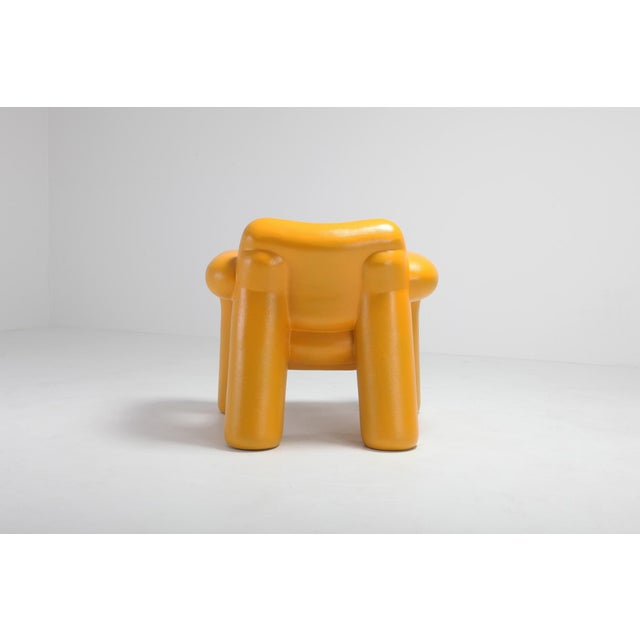 Yellow Blown-Up Chair by Schimmel & Schweikle For Sale - Image 8 of 11