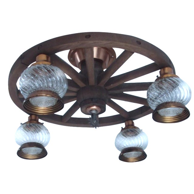 Wagon Wheel Country Western Chandelier - Image 1 of 7