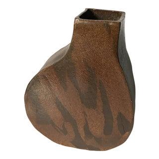 Mid Century Handmade Signed Pottery Vase Kw