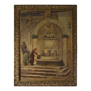 1920s Vintage Louis Saphier Orientalist Scene Oil on Canvas Painting For Sale