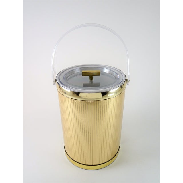 Georges Briard Mid-Century Modern Gold Ice Bucket For Sale - Image 13 of 13