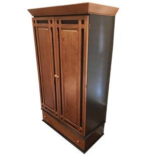 Modern Canadian Maple Armoire Chest For Sale