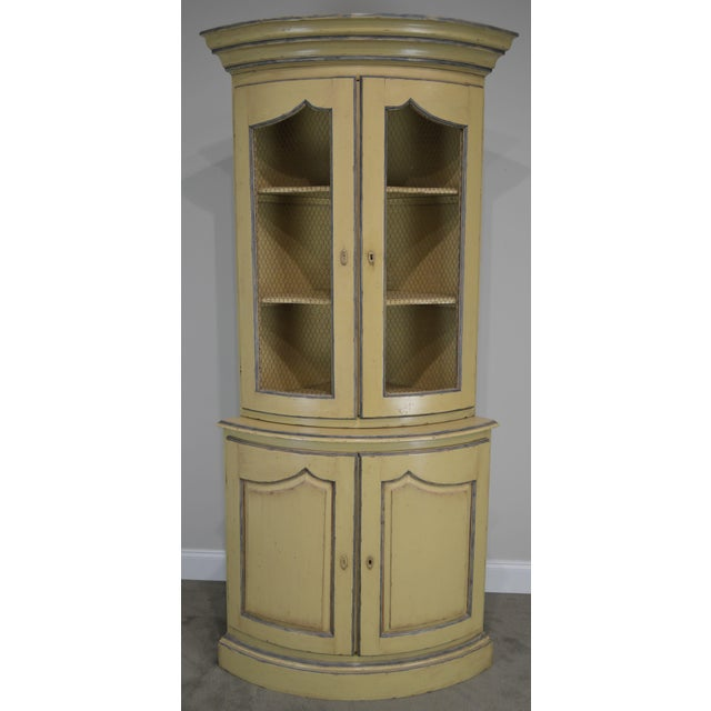 French Country Style Corner Cabinet For Sale - Image 10 of 13