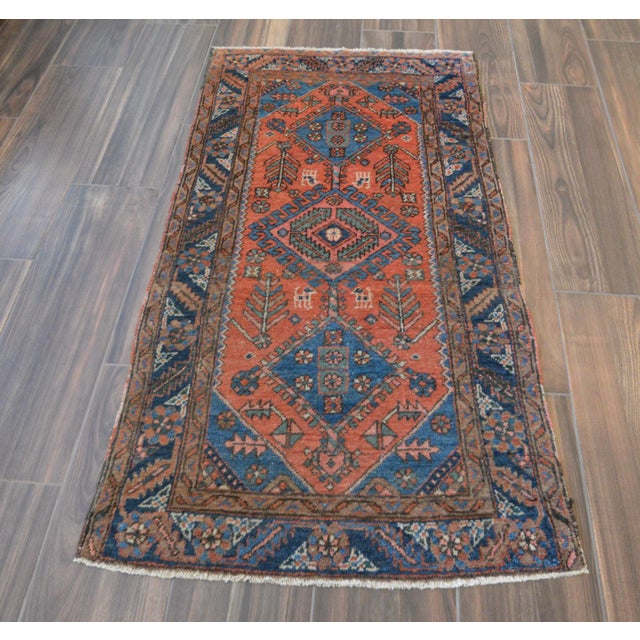 "Antique Persian Heriz Rug - 3' x 5'7"" - Image 4 of 11"