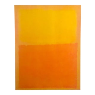 "Mark Rothko Vintage 1990's Abstract Expressionist Lithograph Print Poster "" Orange and Yellow "" 1956 For Sale"