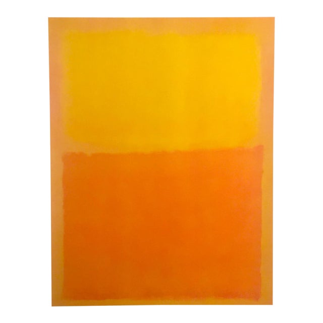 """Mark Rothko Vintage 1990's Abstract Expressionist Lithograph Print Poster """" Orange and Yellow """" 1956 For Sale"""