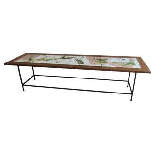 1960s Mid-Century Modern Art Tile Table For Sale