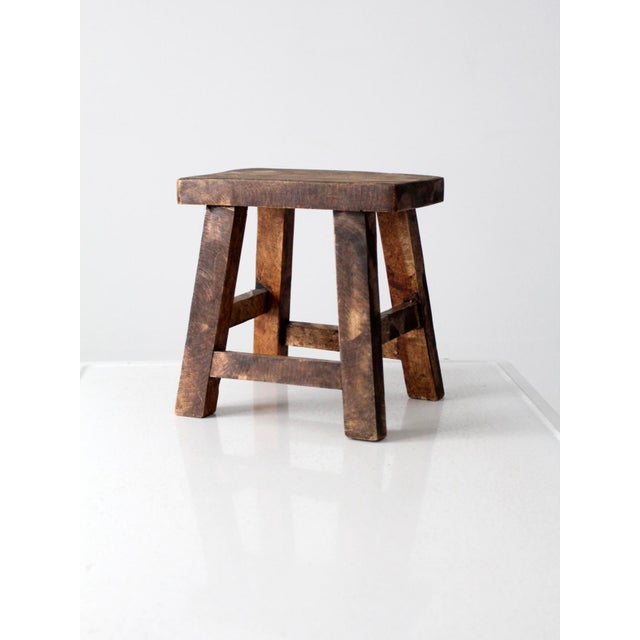 Vintage Chinese Wood Stool For Sale - Image 6 of 8