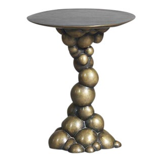 Erin Sullivan, Blackened Bronze Bubble Side Table, USA, 2015 For Sale
