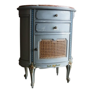 20th Century French Marble Top Nightstand For Sale
