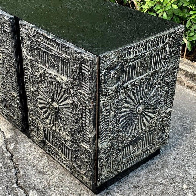 """Adrian Pearsall for Craft Associates """"Sculpted Bronze"""" Brutalist Credenza For Sale In West Palm - Image 6 of 12"""