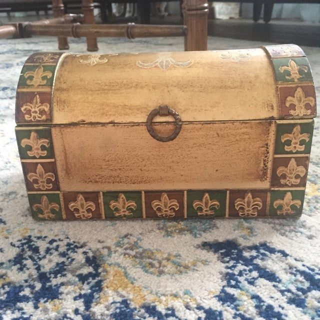 Antique Italian Florentine Gold Music Box Jewelry Box - Image 2 of 11