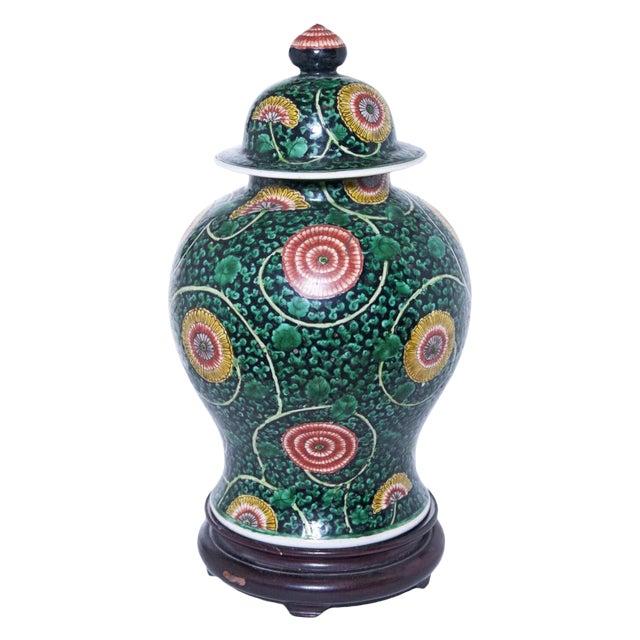 Famille Verte Temple Jar For Sale
