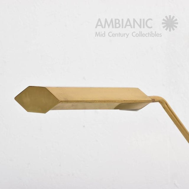 Modern Mid-Century Anthony Howard for Koch & Lowy Brass Desk Lamp For Sale - Image 3 of 7