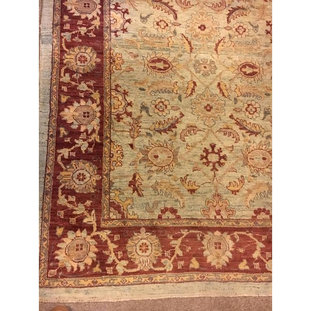 Traditional Olive & Burgundy Rug - 4′9″ × 6′4″ - Image 3 of 4