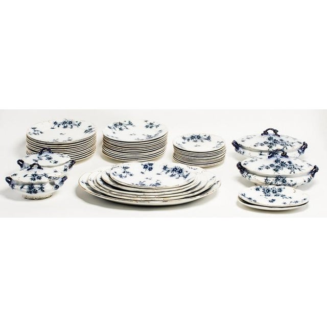 English Traditional FLOW BLUE CHINA For Sale - Image 3 of 6