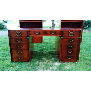 Traditional Starbay Rosewood Richelieu Leather Top Executive Desk Preview