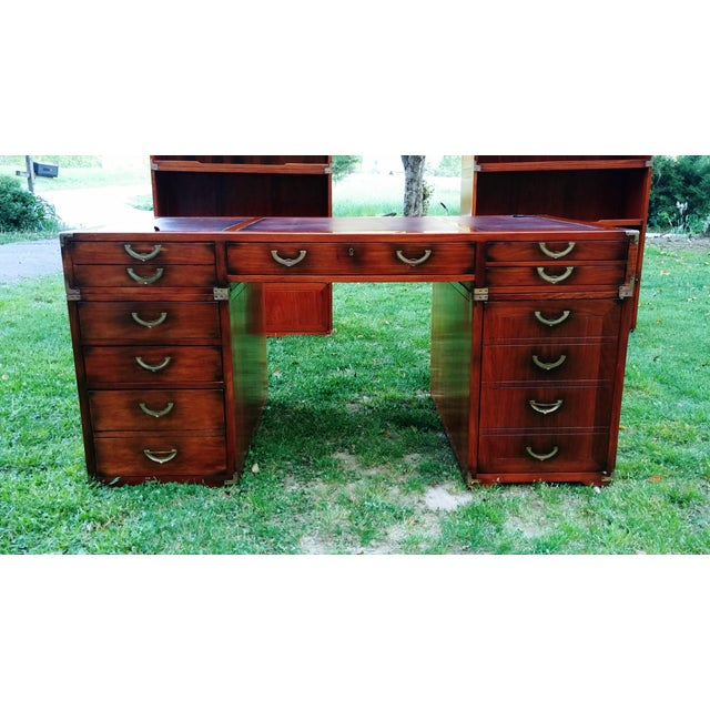 Item offered is a gorgeous office/home office nautical style executive desk by Starbay. A fine furniture manufacturer in...
