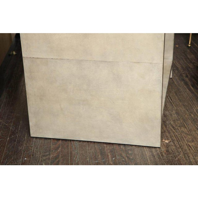 Pair of Parchment Nightstands For Sale In New York - Image 6 of 10