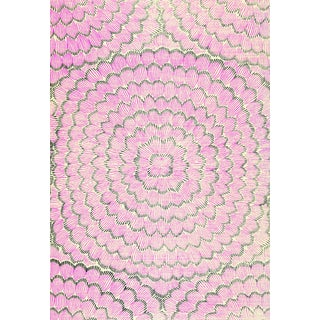 Sample - Schumacher X Celerie Kemble Feather Bloom Wallpaper in Fuchsia & Jet Preview
