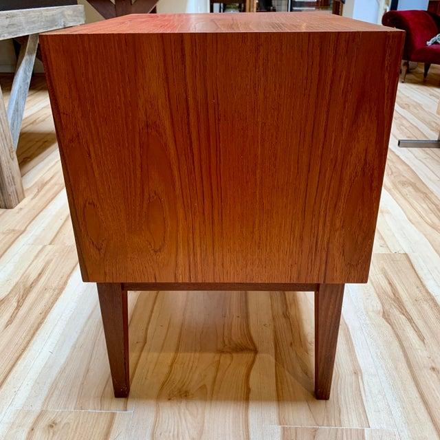 Danish Modern 1960s Danish Modern Teak and Rosewood Nightstand For Sale - Image 3 of 13