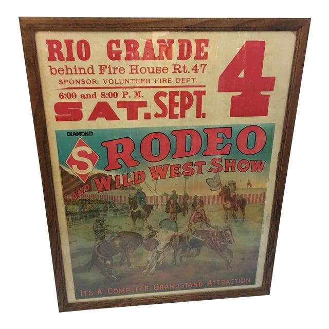 Original Rio Grande Rodeo Wild West Poster - Image 1 of 7