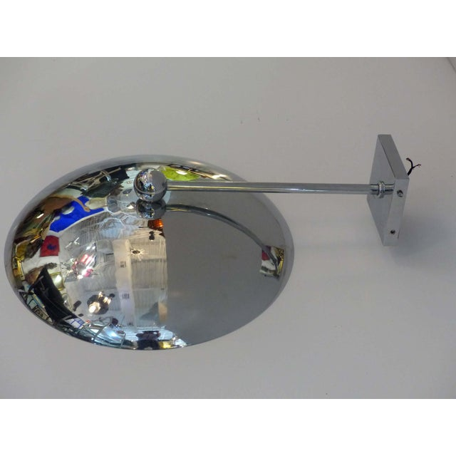 1950s Modern Chrome Disk Sconce For Sale - Image 9 of 9